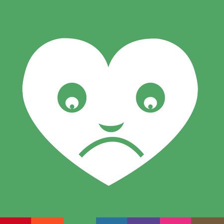 emotion: Heart Face Emotion Icon Illustration sign design Illustration