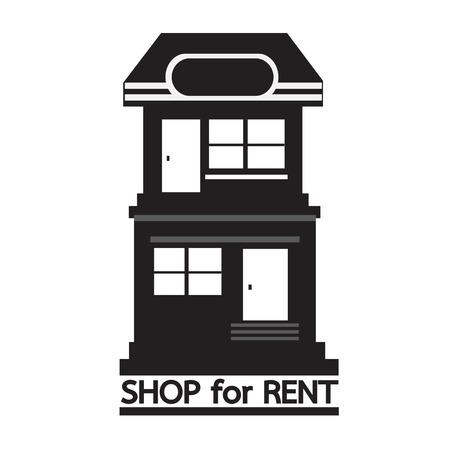 shop for: shop for rent icon Illustration design Illustration