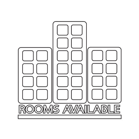 staying: Hotel Rooms Available icon Illustration design Illustration