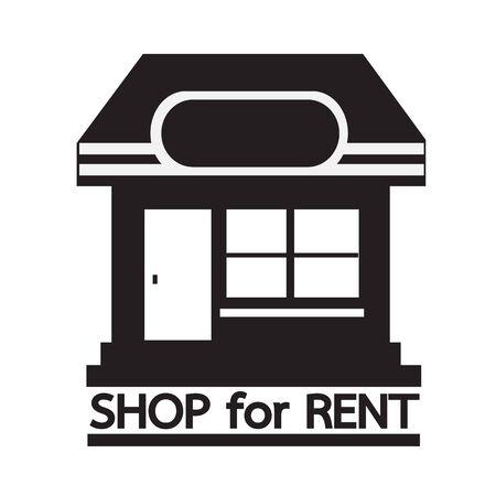 rent: shop for rent icon Illustration design Illustration