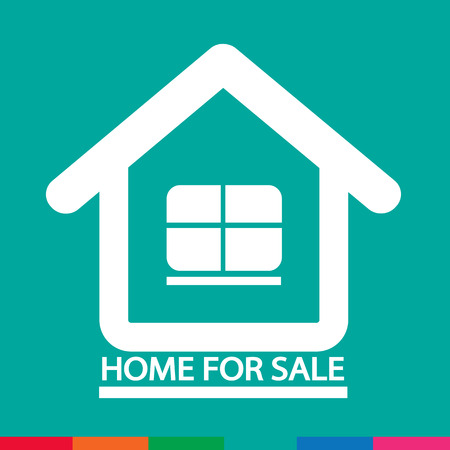 home for sale: Home For Sale icon Illustration design Illustration