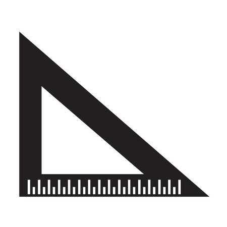 millimeters: triangle ruler icon Illustration sign design