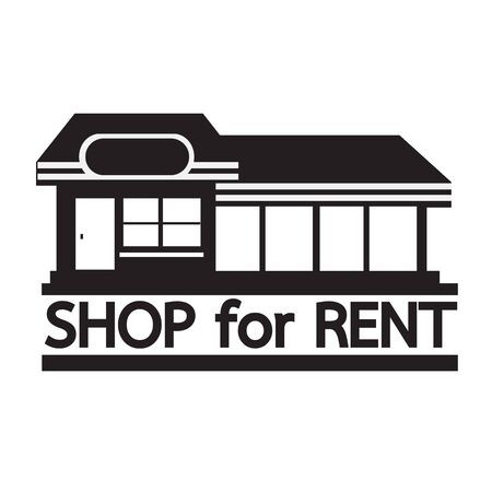 store sign: shop for rent icon Illustration design Illustration