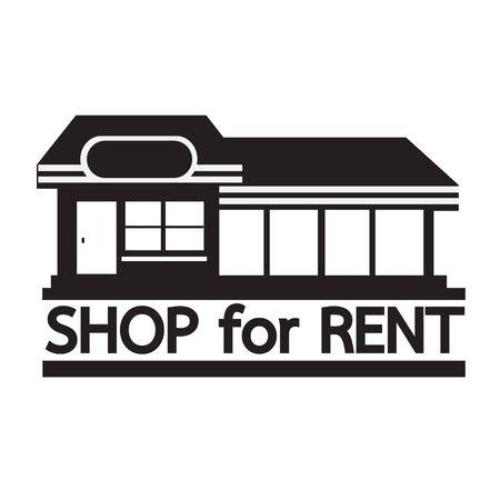 winkel te huur pictogram Illustratie ontwerp Vector Illustratie