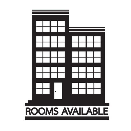 accomodation: Hotel Rooms Available icon Illustration design Illustration