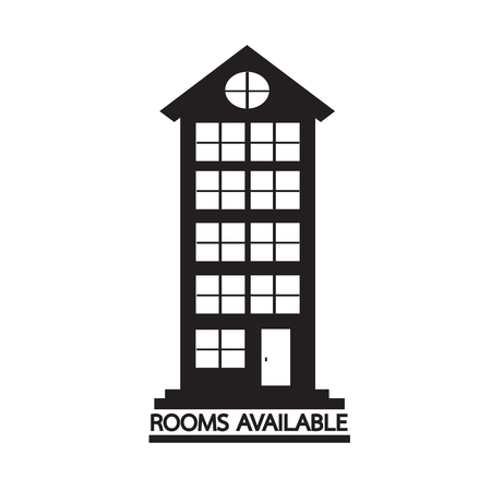 recreation rooms: Hotel Rooms Available icon Illustration design Illustration