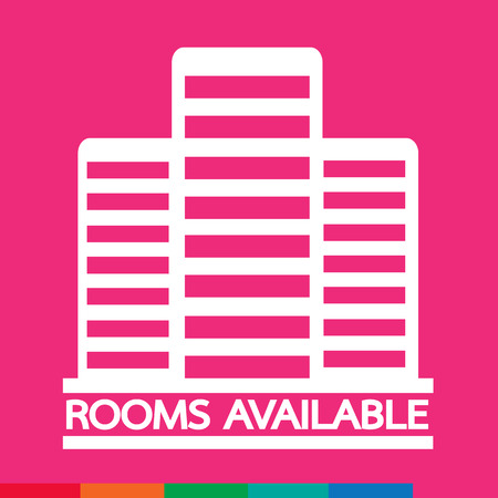 hotel rooms: Hotel Rooms Available icon Illustration design Illustration
