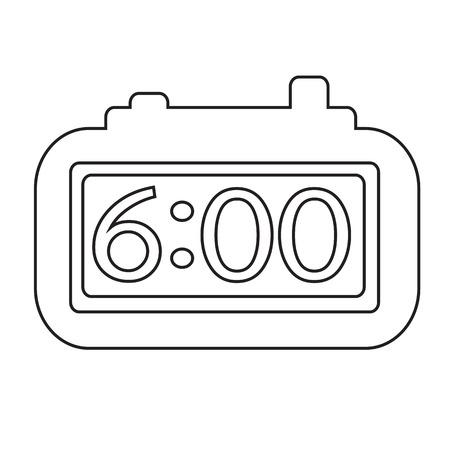 clockwise: Time Clock icon Illustration sign design
