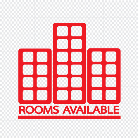 available: Hotel Rooms Available icon Illustration design Illustration
