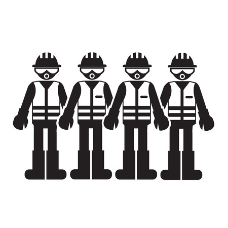 industrial safety: Construction Worker People Icon Illustration design
