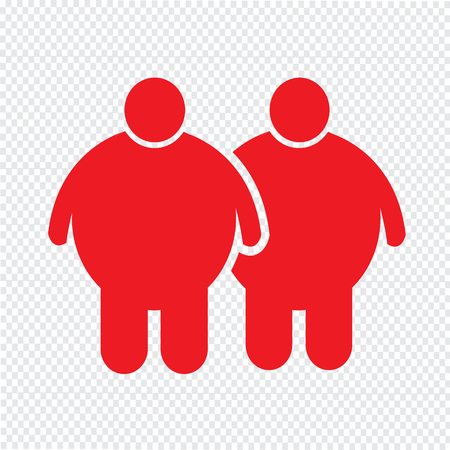 excess: Fat People Icon Illustration design Illustration