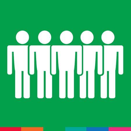 identification: Population People Icon Illustration design