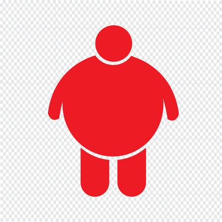 unhealth: Fat People Icon Illustration design Illustration