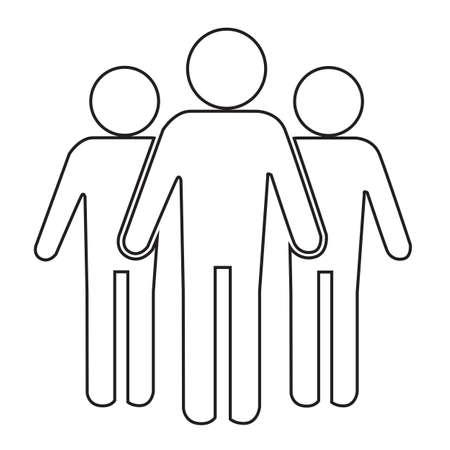 population: Population People Icon Illustration design