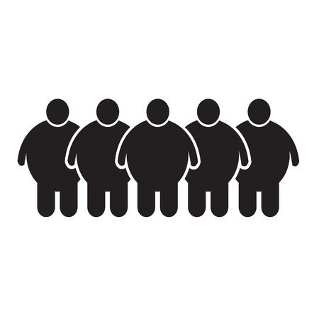 Fat Icono de la gente Ilustración de diseño