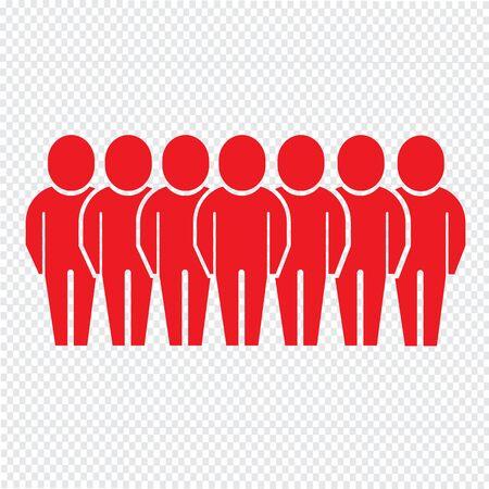 poblacion: Poblaci�n Ilustraci�n de dise�o Icono de la gente