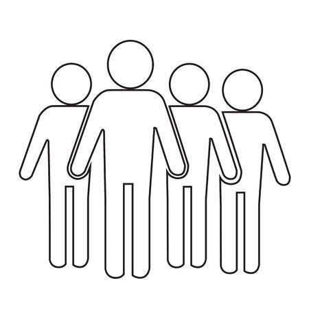 Población Ilustración de diseño Icono de la gente Ilustración de vector