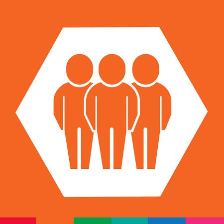 people icon: People icon Illustration design