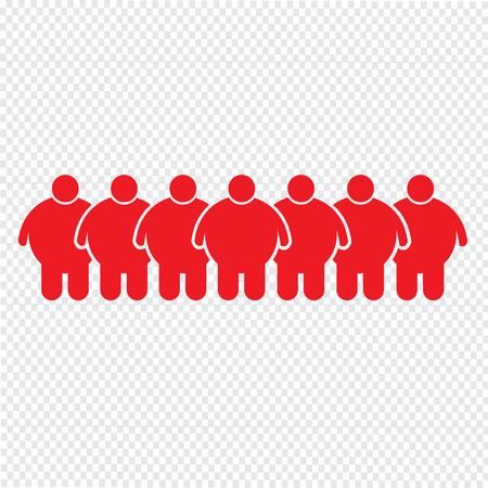 Fat Icono de la gente Ilustración de diseño Ilustración de vector