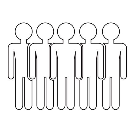poblacion: Población Ilustración de diseño Icono de la gente