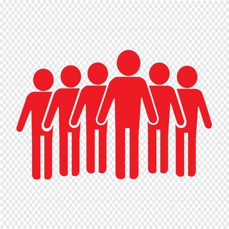 supervisor: Population People Icon Illustration design