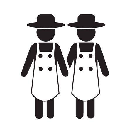 agrarian: Farmer Icon Illustration design