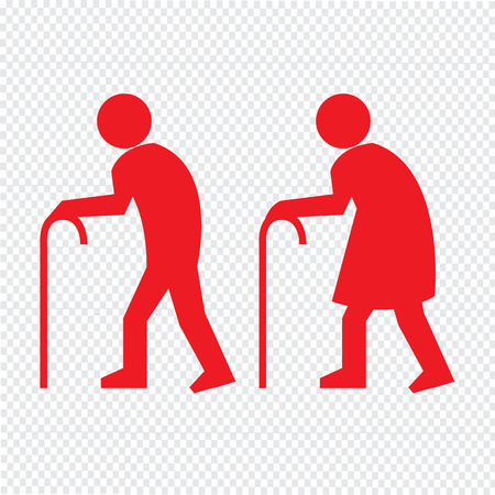 elder: Elder People Icon Illustration design Illustration