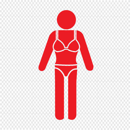 swimming suit: Swimming Suit People Icon Illustration design