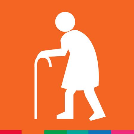 senile: Elder People Icon Illustration design Illustration