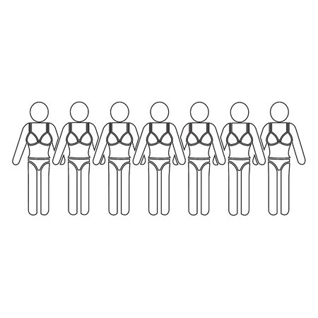 Swimming Suit People Icon Illustration design