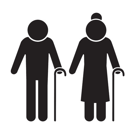 Elder People Icon Illustration design Ilustração