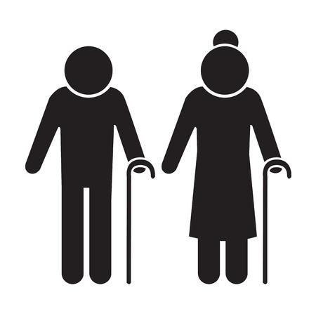 Elder People Icon Illustration design Illustration