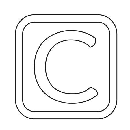 copyright: copyright symbol icon Illustration design Illustration