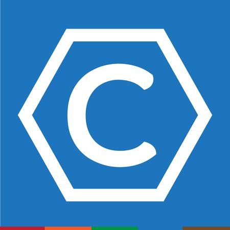 copyright symbol: copyright symbol icon Illustration design Illustration