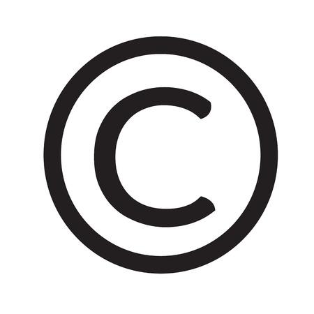 simbolo di copyright icona di design Illustrazione