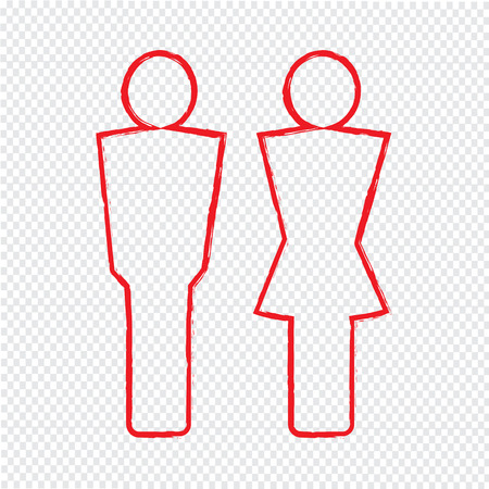 loo: man and lady People icon Illustration design