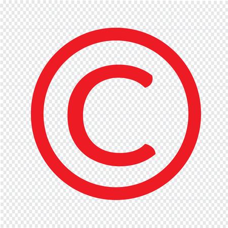 conventions: copyright symbol icon Illustration design Illustration