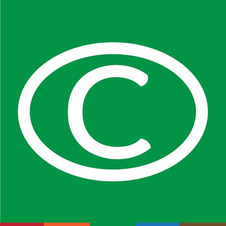duplication: copyright symbol icon Illustration design Illustration