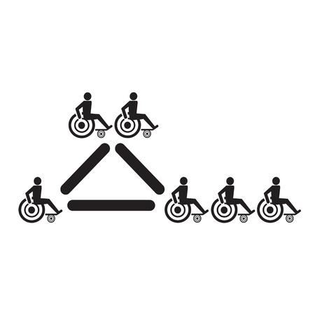 paralyze: Disabled Handicap Icon Illustration design