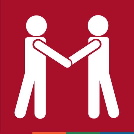 Affari Mans Handshake Icon Design Illustrazione Archivio Fotografico - 52804686