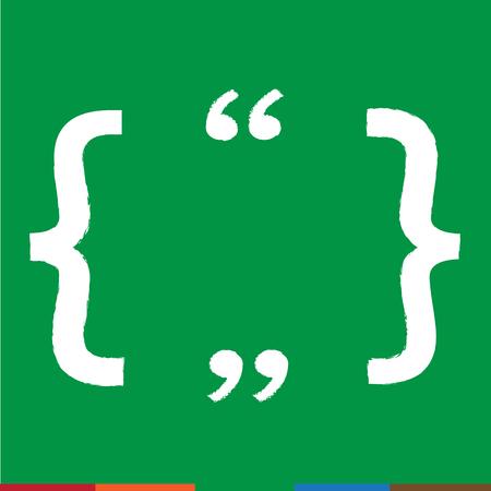 feedback label: Quote bubble blank icon Illustration design Illustration