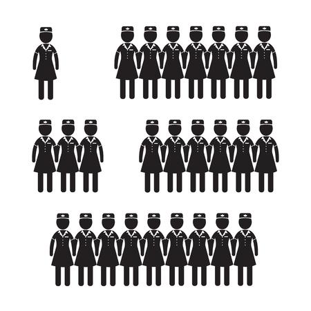 airline hostess: Air Hostess Stewardess icon Illustration design