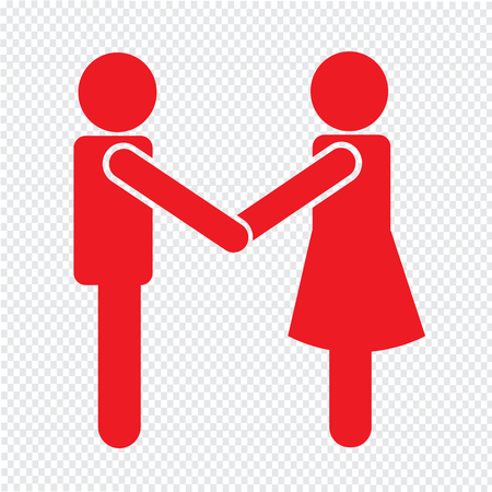 Affari Mans Handshake Icon Design Illustrazione Archivio Fotografico - 52805179
