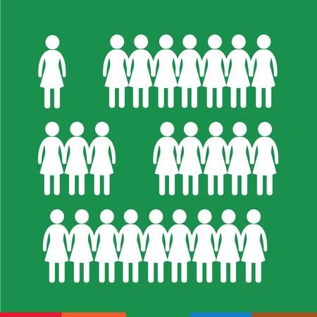 human relations: Female Icon  Illustration design Illustration