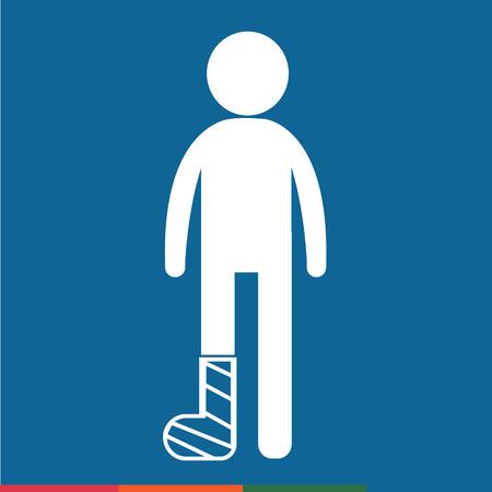 broken arm: People Broken Arm and Leg Icon Illustration design