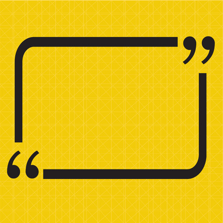 Quotation Mark Speech Bubble sign icon Illustration design Vektorové ilustrace