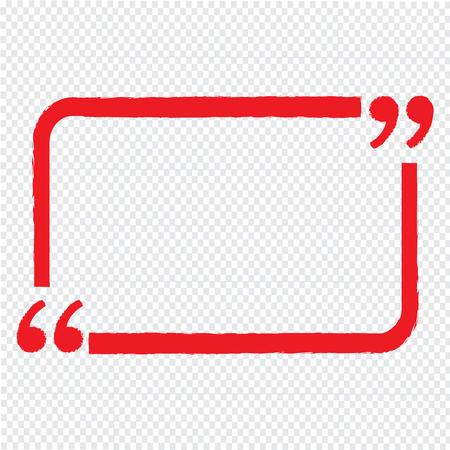 Mention: Quote bubble blank icon Illustration design Illustration