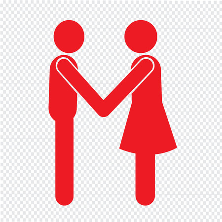 Affari Mans Handshake Icon Design Illustrazione