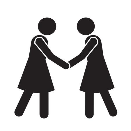 Business Mans Handshake Icon Illustration design Vettoriali