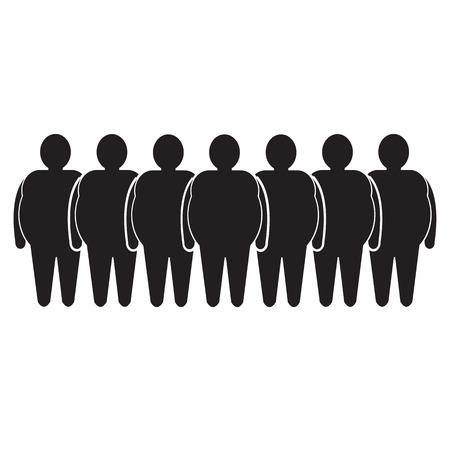 slob: Fat People Icon Illustration design Illustration